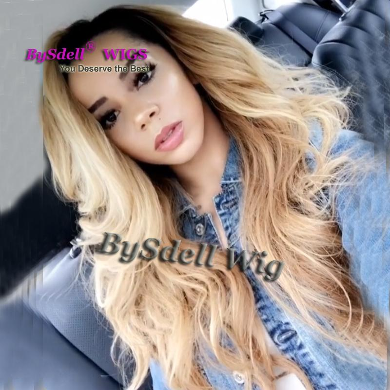 Premium Natural Black Root Ombre Natural Dark Blonde Hair Front Lace Wig Heat Resistant 27 Mix 613 Color Soft Hair Lace Front Wig A Wig Man Wig From Tthouse2 48 25 Dhgate Com