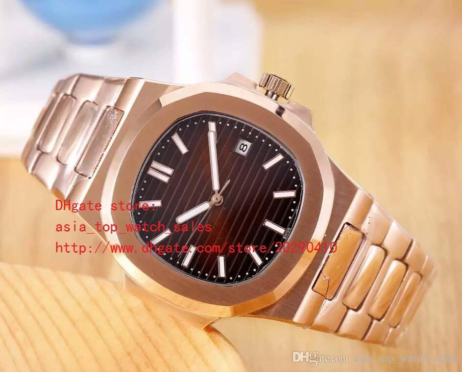 4 цвета розовое золото высокое качество часы 40.5 мм Nautilus 5711 / 1A-001 дата Азии механические прозрачные автоматические мужские часы