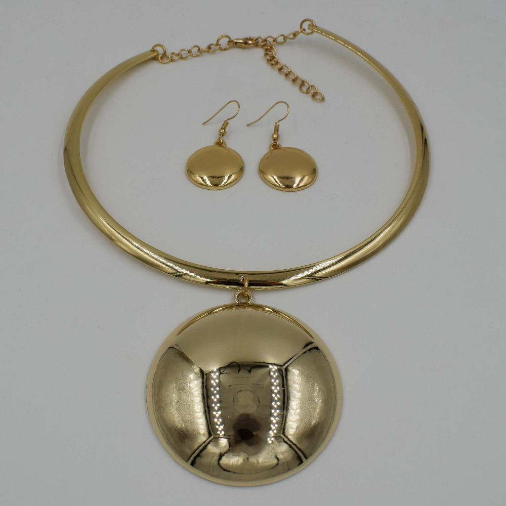 Set di gioielli di alta qualità moda Italia 750 orecchini in oro collana pendente 3 colori set festa di nozze