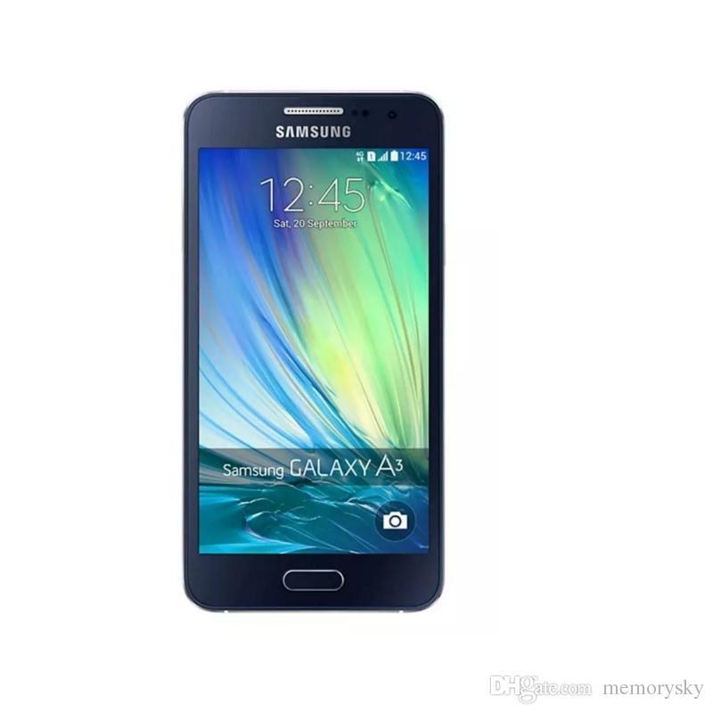 Original Refurbished Samsung Galaxy A3 A3000 A300F Dual SIM 4.5 inch Quad Core 1GB RAM 8GB ROM 8MP Camera 4G LTE Unlocked Mobile Cellphone