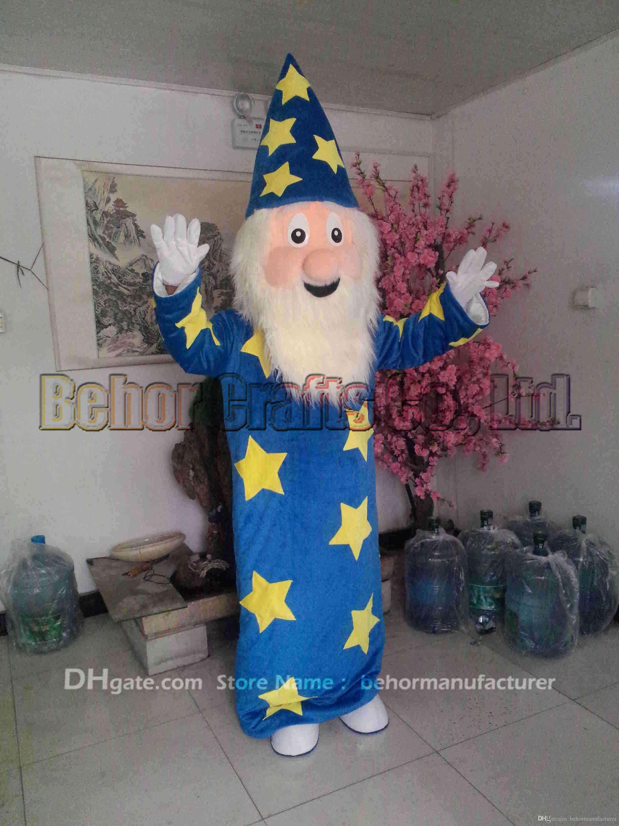 Magician Maskottchen Kostüm freies Verschiffen, preiswerte Qualität Faschingsparty Fancy Plüsch Walking Assistenten Maskottchen Erwachsenengröße.