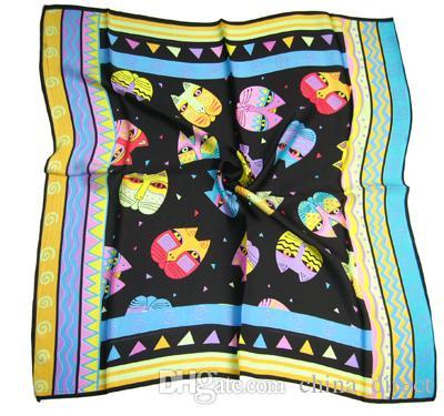 Vierkante 100% Zijde hals Sjaals Zijde Sjaal Sjaals 10pcs / lot # 1790