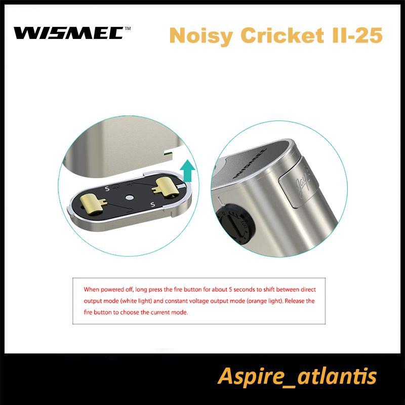 Original Wismec Noisy Cricket Ii 25 Mod Noisy Cricket 2 Mod Dual ...