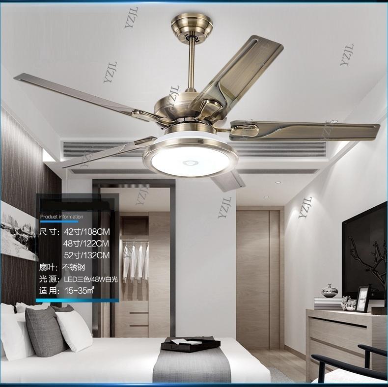 Living room ceiling chandelier fan restaurant fan lamp chandelier Minimalism modern European retro home fans with LED chandelier