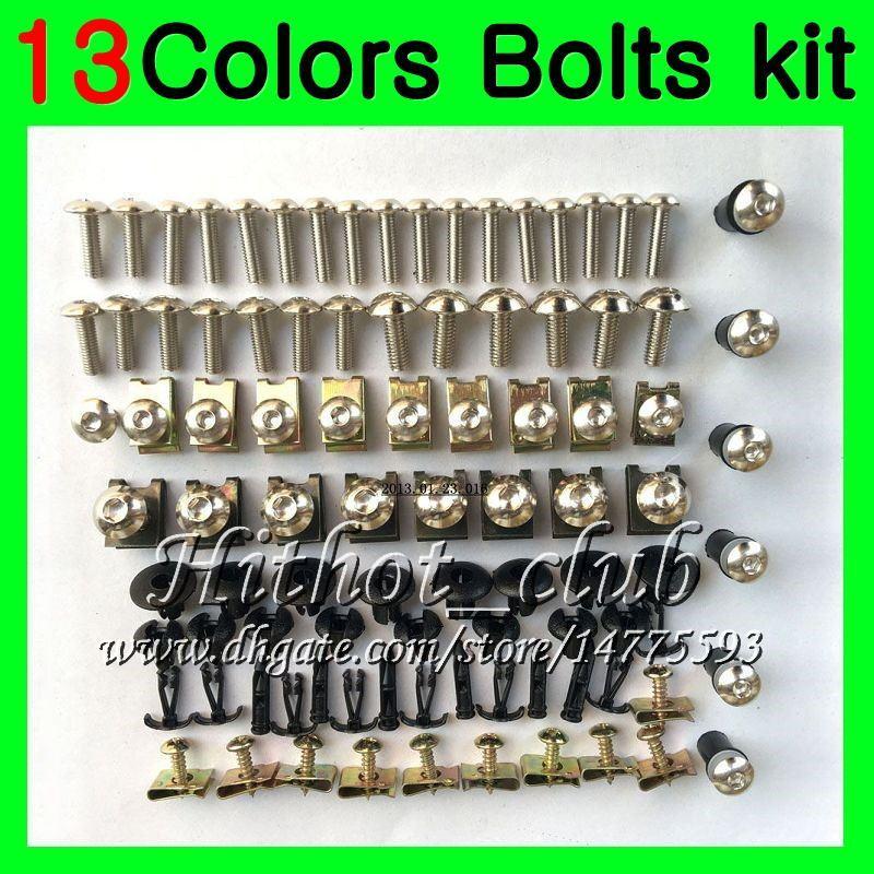 Kit completo de tornillos de carenado Para YAMAHA R6 YZFR6 06 07 YZF-R6 06-07 YZF600 YZF 600 YZF R6 2006 2007 Tuercas de cuerpo tornillos tuercas kit de tornillos 13Colores