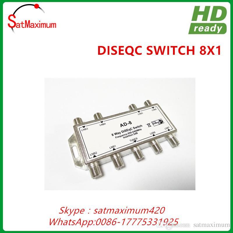 Бесплатная доставка FTA 8x1 DiSEqC переключатель 8 в 1 спутниковый приемник LNB MultiSwitch Lnbf блюдо
