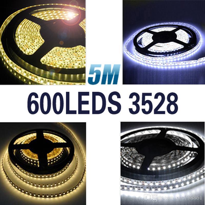 5m 120 led / m 3528 SMD 12V гибкий свет 120 led/m, светодиодная лента белый / теплый белый / синий / зеленый / красный / желтый(нет водонепроницаемый)