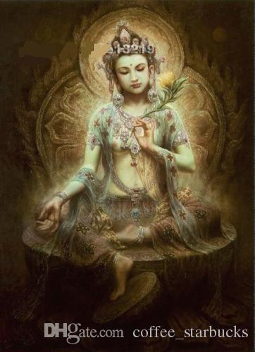 Chinese Dunhuang fairy,Hand-painted portrait Art Oil painting On High Quality canvas,Multi sizes Available DH052