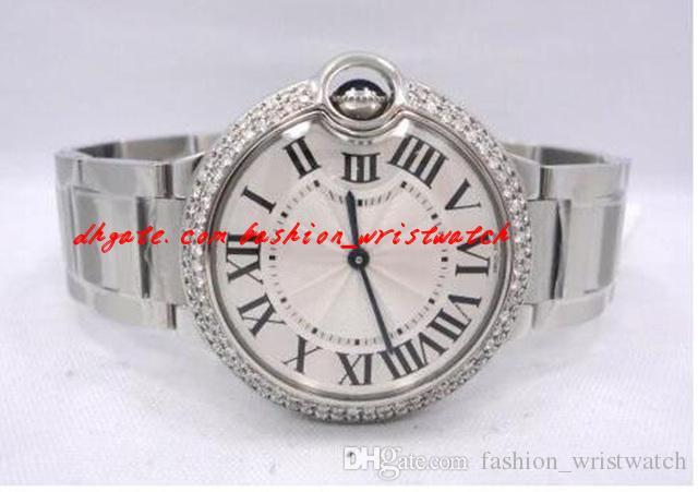 패션 브랜드 원래 상자 선물 럭셔리 최고 품질 사파이어 브랜드 새로운 다이아몬드 베젤 36mm W69011Z4 쿼츠 운동 시계 독특한