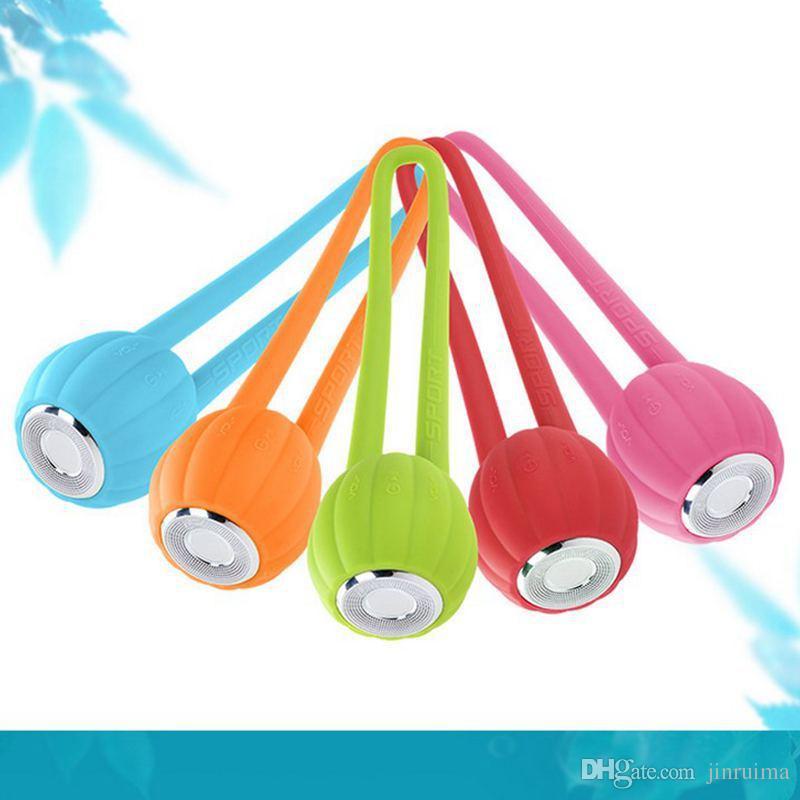 5 pcs - Pumpkin Bluetooth carte haut-parleur portable portable étanche Mini Ride TF Carte TF Petite mi-acier