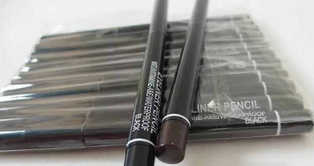 Frete grátis Os mais recentes produtos mais vendidos nova maquiagem rotação automática Lápis de Olhos LÁPIS preto e marrom PRESENTE LIVRE!