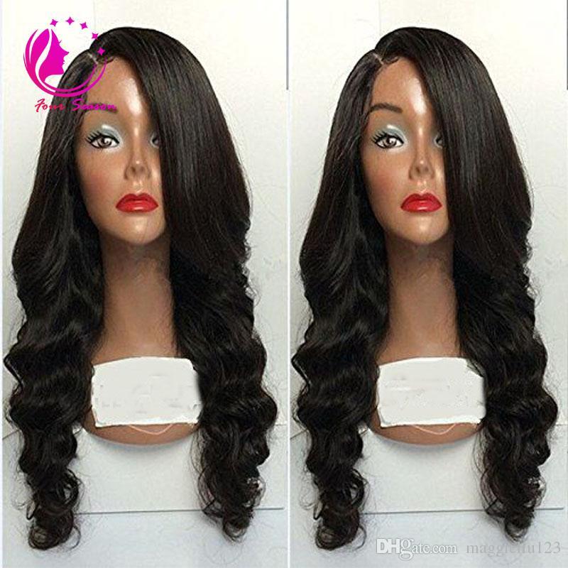 130-180% плотность Виргинский бразильский человеческих волос парики кружева парик на заказ волос 100% Remy человеческих волос кружева спереди парик