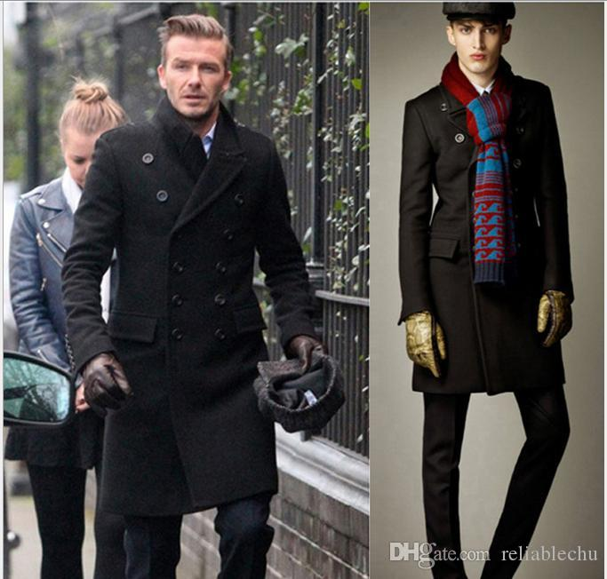 2021 Trench Coat Wool Blend Mens Long, Trench Coat Male Celebrities