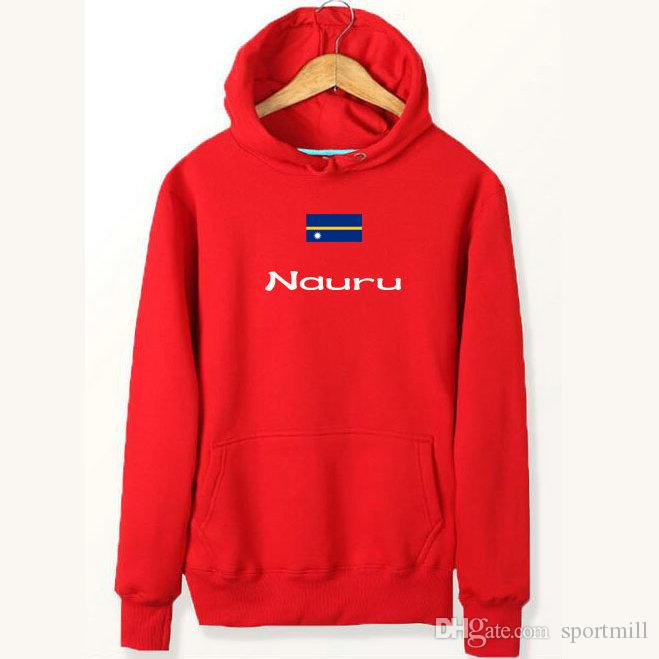Nauru flag hoodies Banner style windproof sweat shirts Country fleece clothing Pullover sweatshirts Outdoor sport coat Brushed jackets