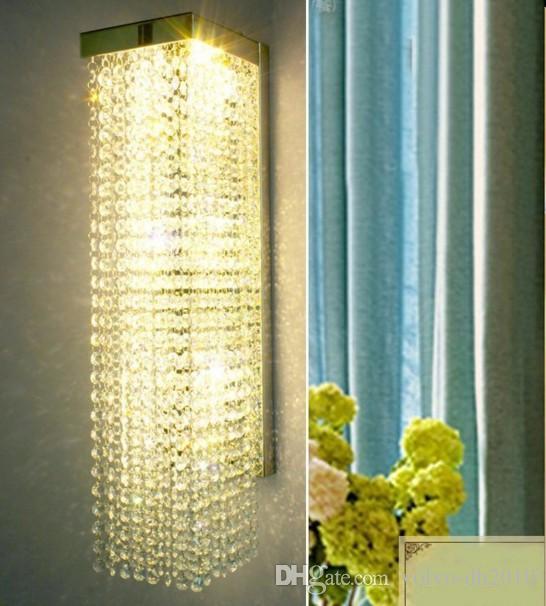 Luxo cristal arandela corredor lâmpadas de luz de parede interior do deco deco espelho do banheiro luz lâmpadas de parede de cristal para iluminação de casa LLFA