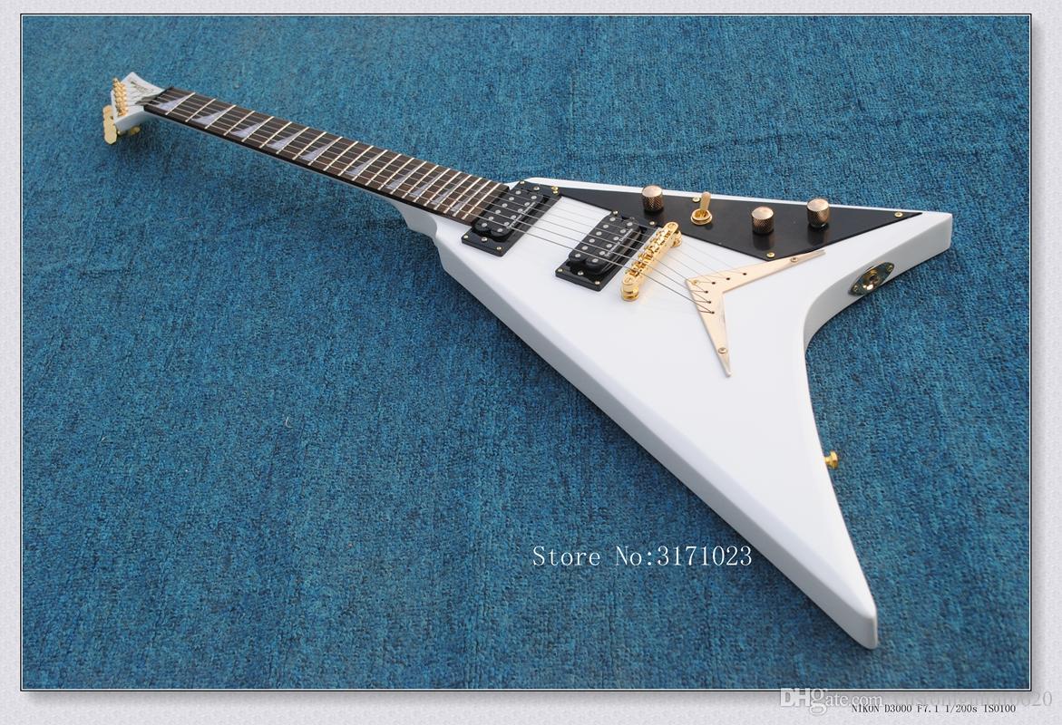 Top Quality China Custom Shop Guitarra Elétrica Jackson Randy Rhoads Limitada Riscas V Guitarra Frete Grátis