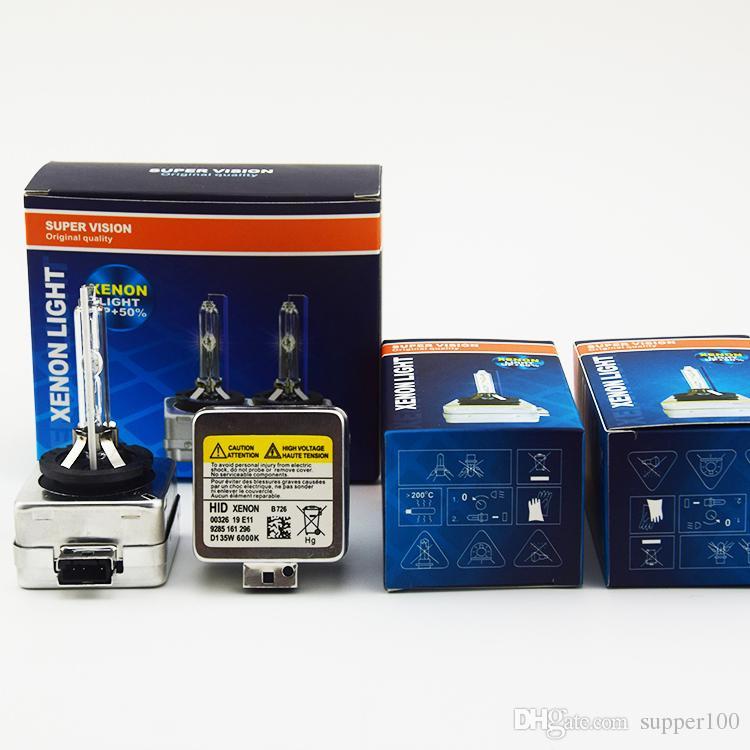 شحن مجاني 2PCS زينون D1S اختبأ المصابيح السوبر مشرق عالية الطاقة 35W D1S اختفى الاطلاق لمبة السلطة العليا 35W D1S زينون المصابيح ترويج
