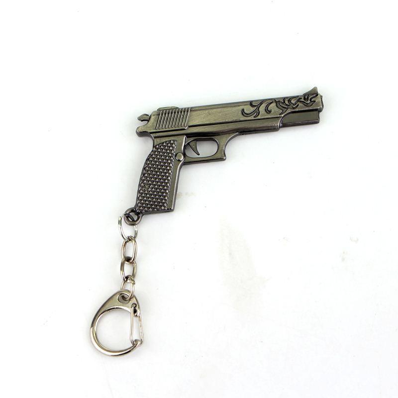 COOL! Pistole Anti-Terror Ausrüstung Neue Design Anhänger Schlüsselbund Schlüsselbund Geschenk Für Mann Von Hoher Qualität Schmuck Kostenloser Versand