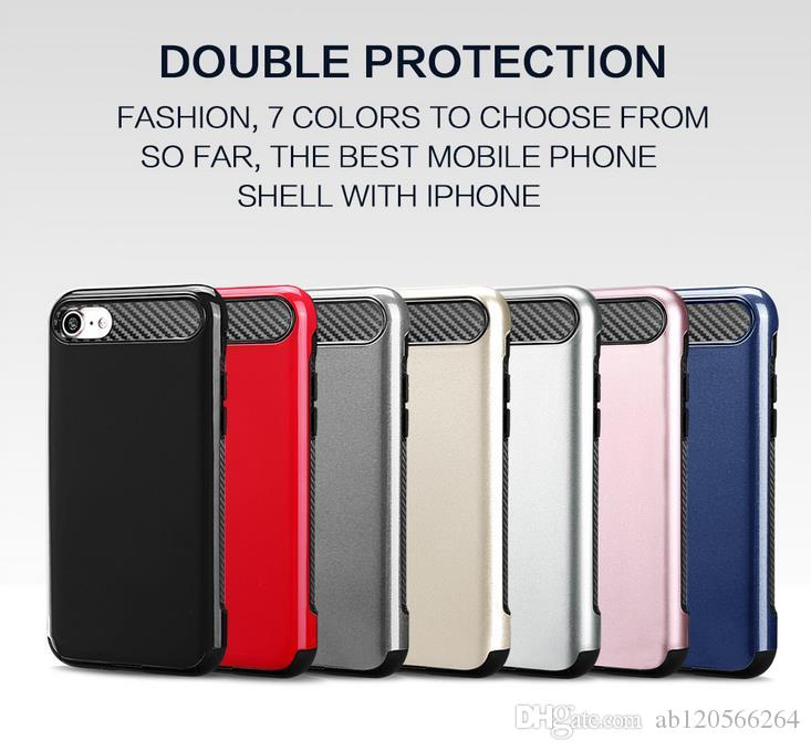 Hot For Apple iphone 7 plus 6 6S Cases Samsung Galaxy S8 S7 Edge Drop-down three-in-one cell phone covers