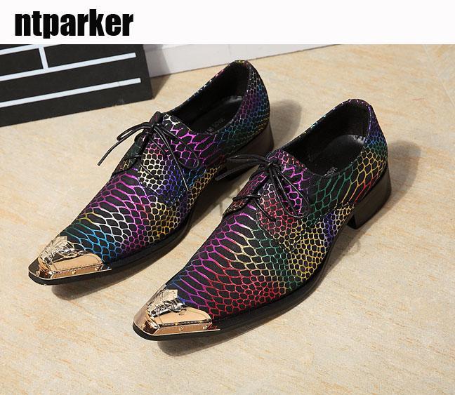 Italia Moda Uomo Scarpe Punta a punta in metallo Colore Scarpe da uomo in pelle, Affari, Abiti da sposa, Scarpe in pelle, US6-12!