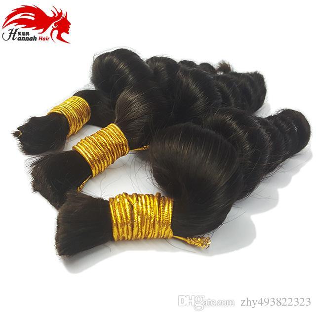 Hot Sale Hannah product Loose Wave Bulk Human Hair For Braiding Unprocessed Human Braiding Hair Bulk No Weft Micro mini Braiding Bulk Hair