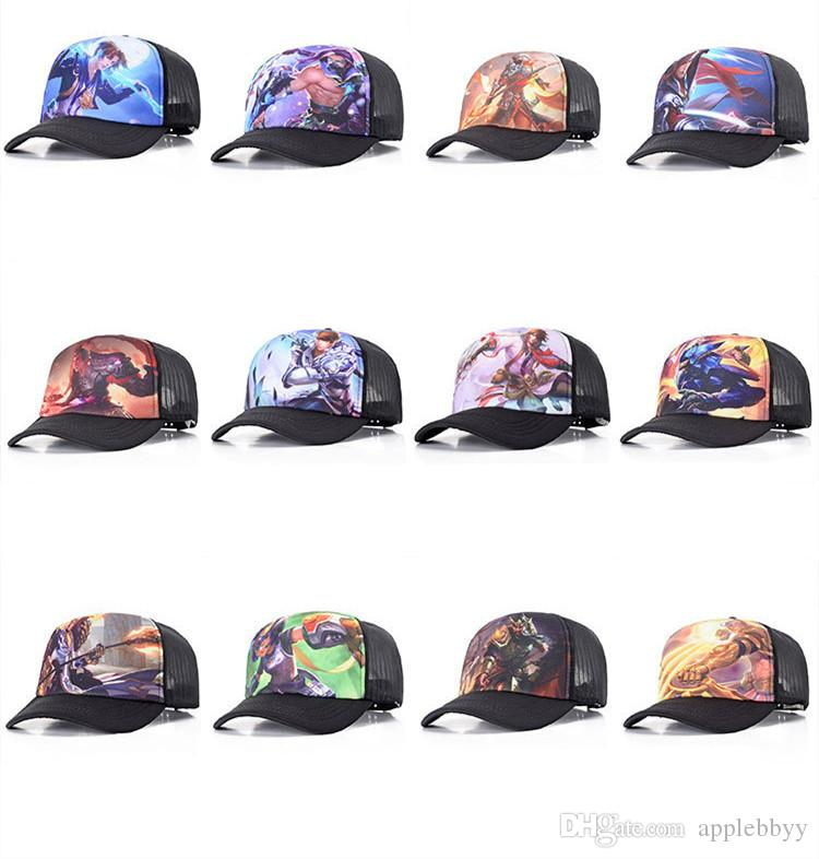 king glory hat spring and summer baseball cap animation game surrounding hip hop cap middle school student shade net hat DHL
