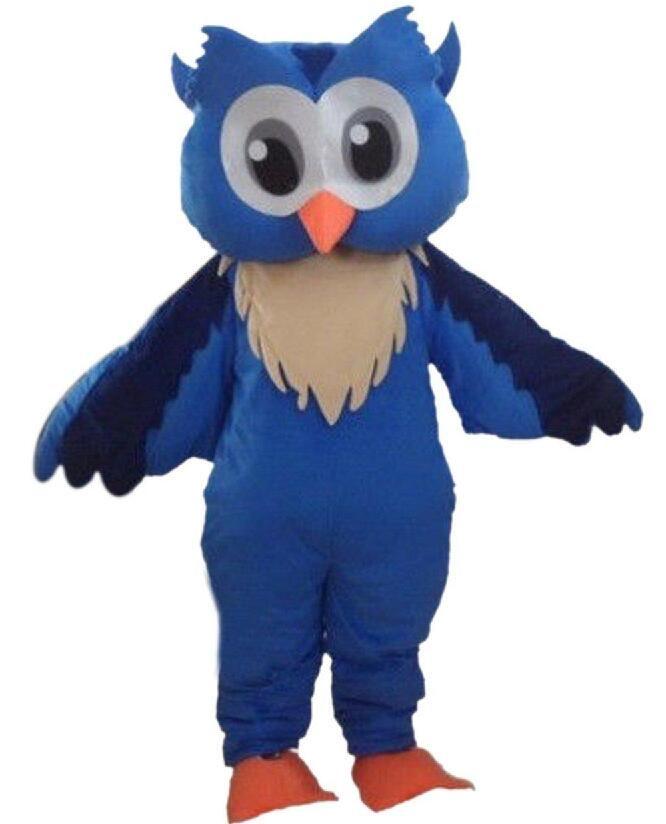 2017 venda direta da Fábrica de coruja mascote traje de carnaval fantasias trajes escola colégio mascote