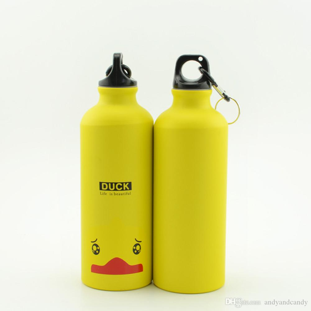 Demino 500ml Beaux Animaux en Plein air Sports Bottle Portable Bouteille en Alliage daluminium Enfants Eau Motif Cartoon Animaux Kettle Panda