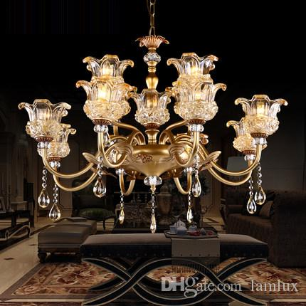 Chandeliers lightings led European American luxury royal retro led chandelier led pendant lights for large hotel villa hall decoration