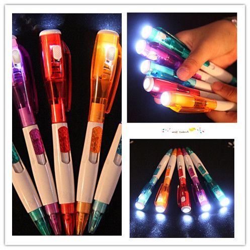 Korea cute creative stationery novel with led flashlight multi-function ball-point pen 5 color free