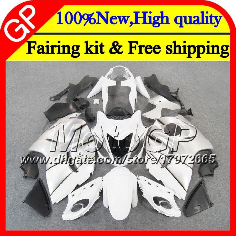 Karosserie für SUZUKI Hayabusa GSXR1300 Weiß silbrig 08 09 10 11 42GP25 GSX R1300 12 13 14 15 GSXR 1300 2012 2013 2014 2015 Motorrad Verkleidung