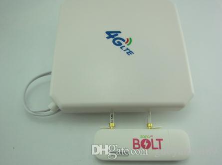 هواوي E8372h-153 LTE سيارة WLAN نقطة ساخنة عصا BOLT مقفلة في مربع 4G TS9 35dbi هوائي مزدوج