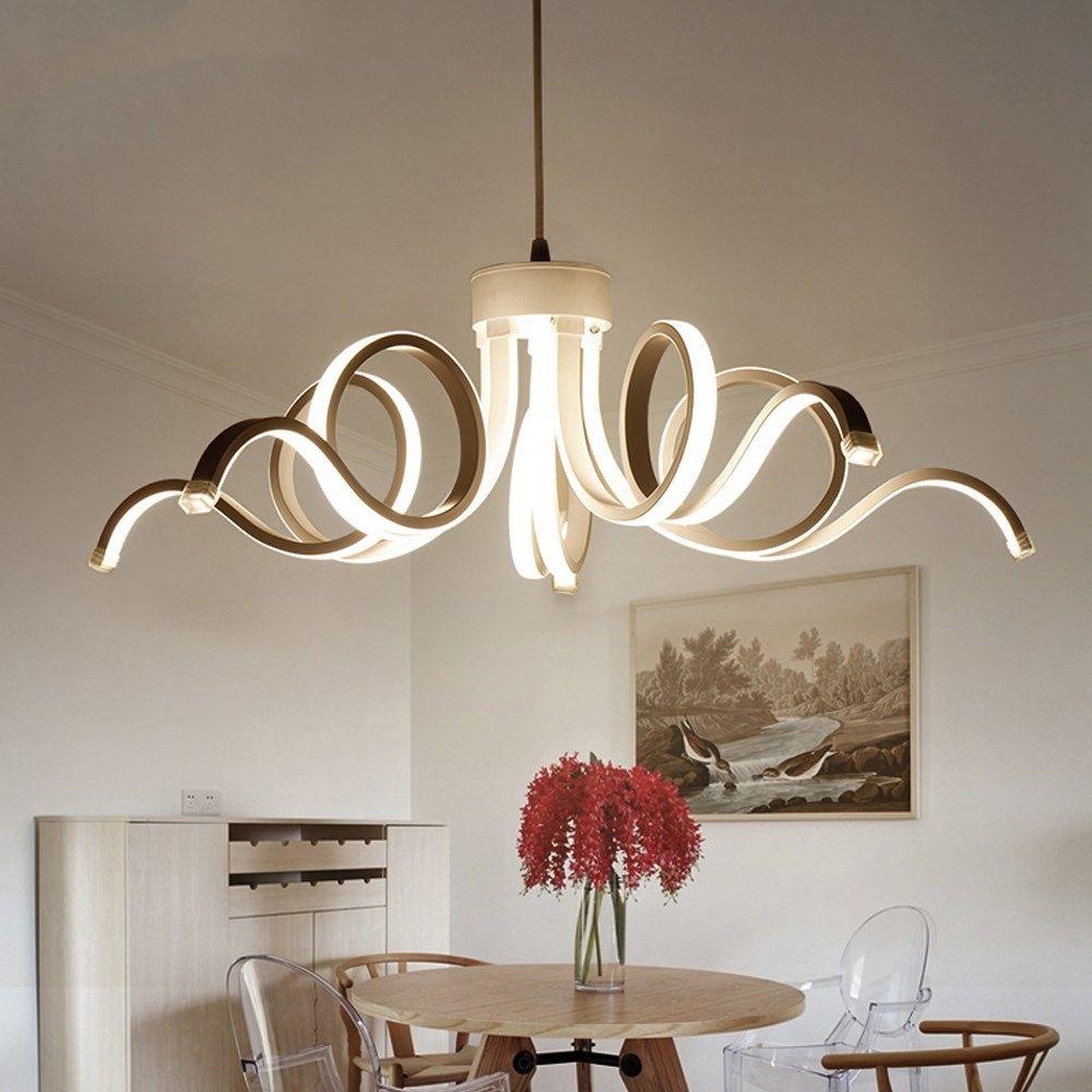 LED Modern Chandelier Lighting Novelty Aluminum Led Pendant Lights  Suspension Lamp For Bedroom Living Room Dining Room Indoor Light Fixtures  Outdoor ...