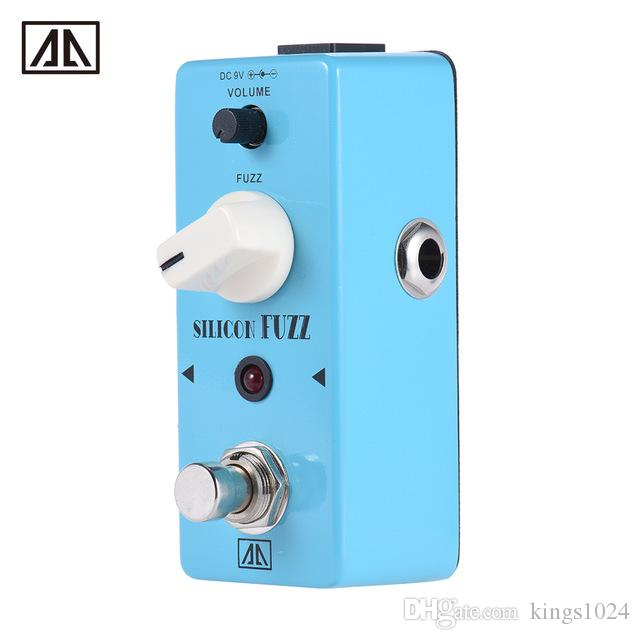 AROMA ASF-5 Classic Silicon Transistor Fuzz Guitar Effect Pedal True Bypass Aluminum Alloy Body Guitar Parts & Accessories