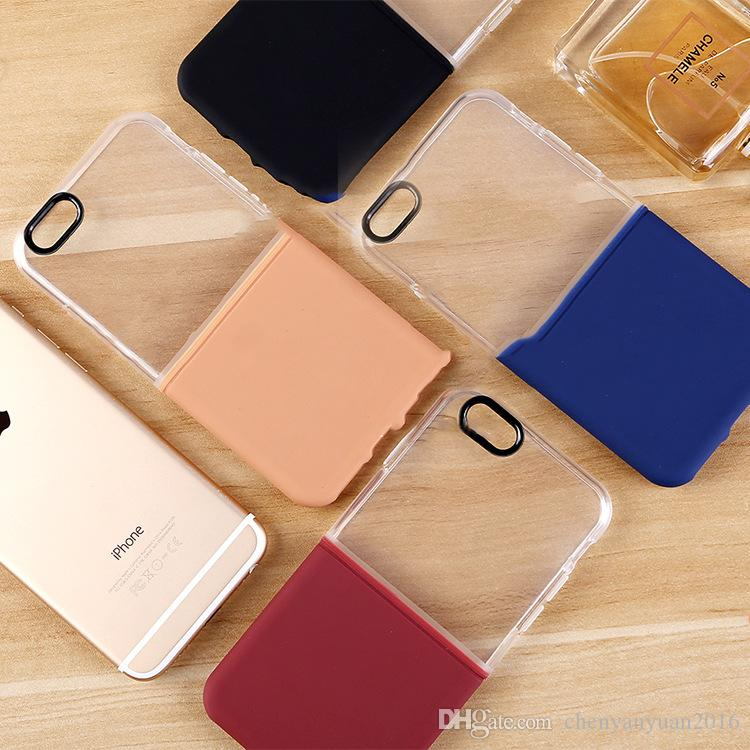 New Design 2in1 TPU + PC Mobile Phone Case for iPhone 7G 7plus Soft TPU Cell Phone Case