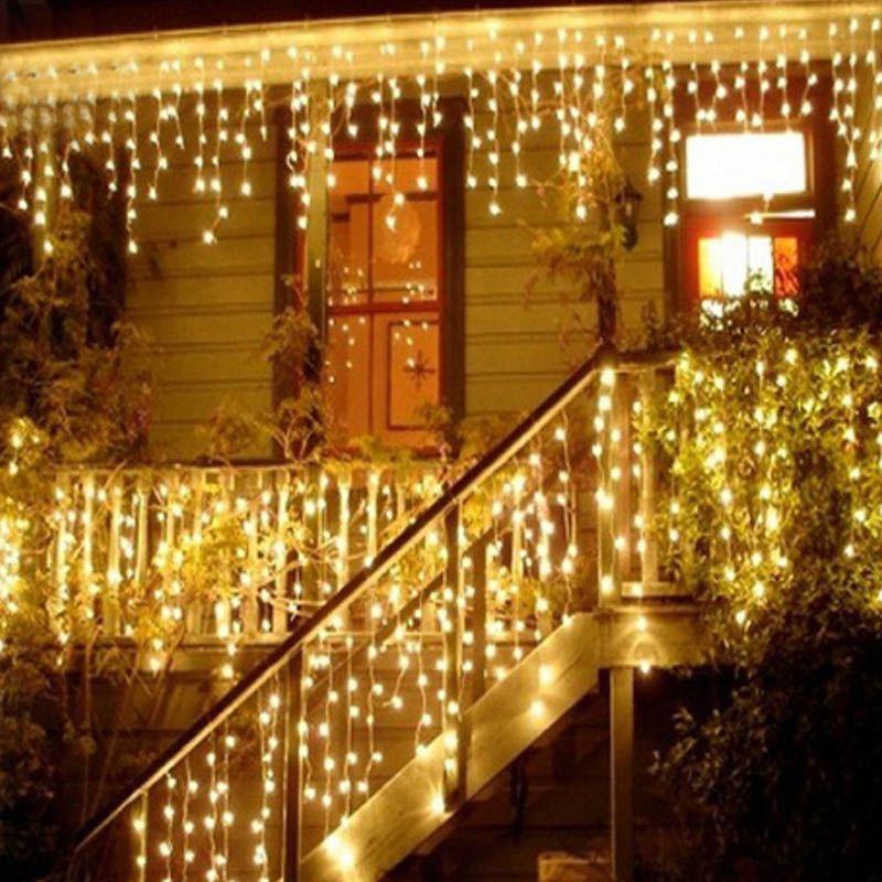 1x أضواء عيد الميلاد الديكور 5 متر droop 0.4-0.6 متر بقيادة الستار جليد سلسلة الأنوار السنة الجديدة حفل زفاف جارلاند ضوء