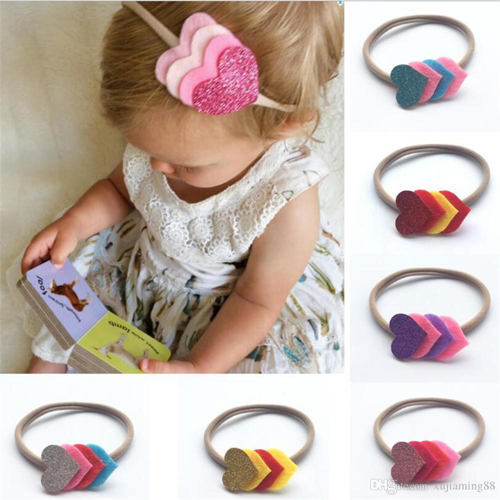 1 PCS Girl Heart Print Knot Headband Newborn Infant Headwear Hair Accessories