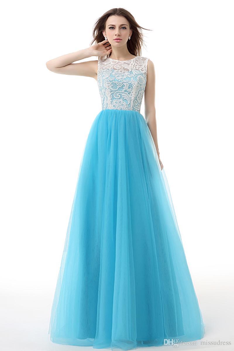 großhandel jewel blue lace günstige ballkleider tüll sexy sheer back  formale abendkleider meerjungfrau abendkleid meerjungfrau stil 2017 von