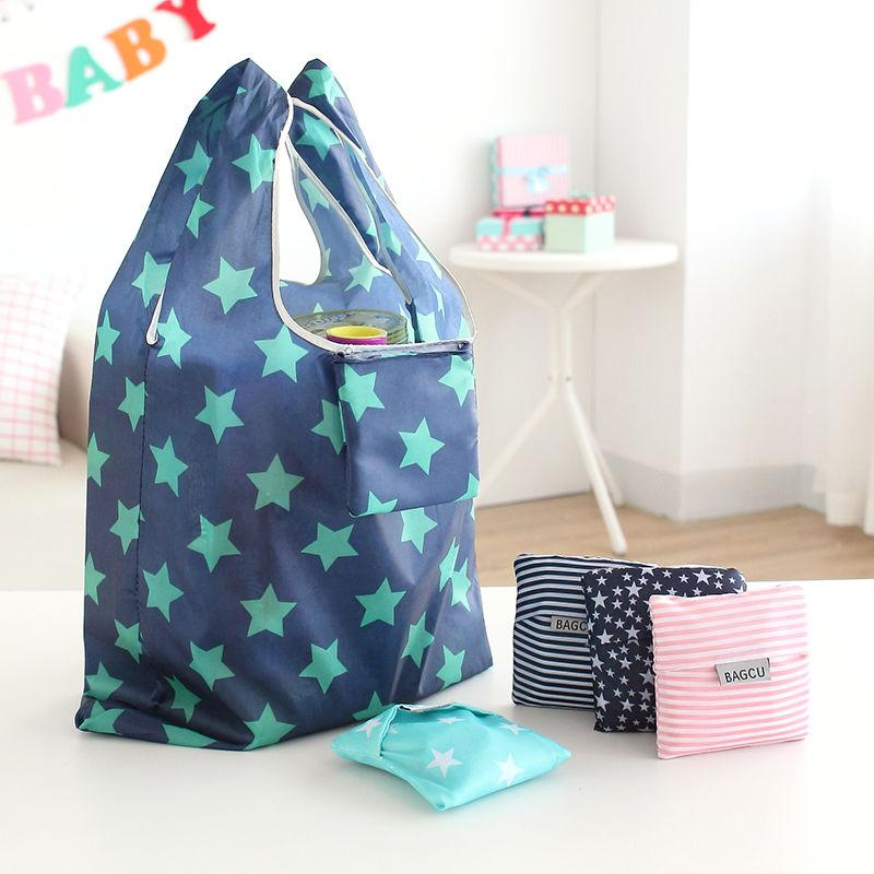 1 X Fashion Unisex Women Men Reusable Shopping Bag Grocery Star ...
