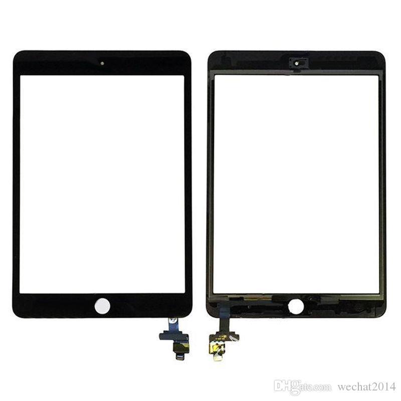 iPad Mini 3 ücretsiz DHL için IC Connector ile Digitizer ile 20PCS Dokunmatik Ekran Cam Panel