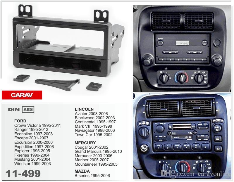 CARAV 11-499 CAR car dash install fitting installation kit trim for FORD Crown Victoria 1995-2011، / LINCOLN Aviator 2003-2006؛ 2-DIN