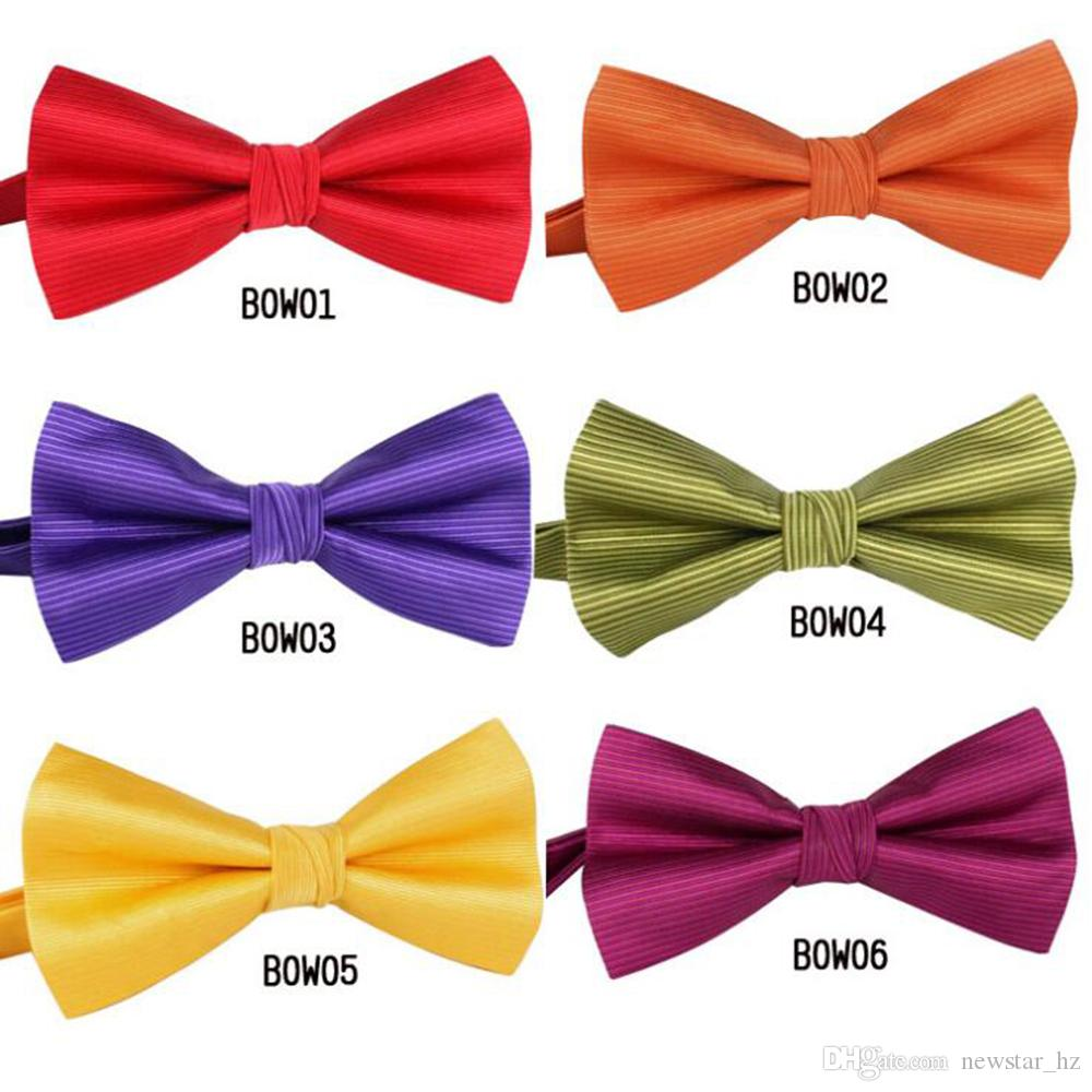 Candy Color Mens Bow Ties Fashion Leisure Polyester Bowtie Classic Business Crossover Ties Tuxedo Bowtie Wedding Bow Tie Necktie Formal Tie
