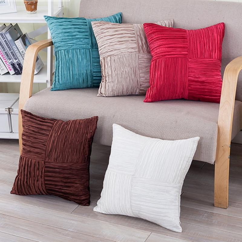 Funda de cojín de color sólido Decoración Funda de almohada de moda Funda de almohada decorativa Cuadrada Sofá cama Coche Oficina Textiles para el hogar Cama 2017