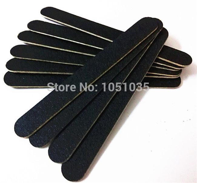 """Lima per unghie in legno di alta qualità con lima per unghie in legno nera da 5 """"file 180/180 dropshipping 300 pezzi / lotto"""