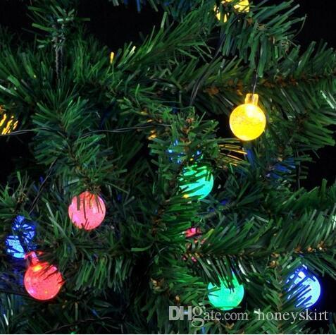 Led Christmas Lights Color.30 Led Christmas Holiday Lighting Color Waterproof Round Led Garden Decorative Strings Led Solar Strings Light Globe String Lights Patio String Lights