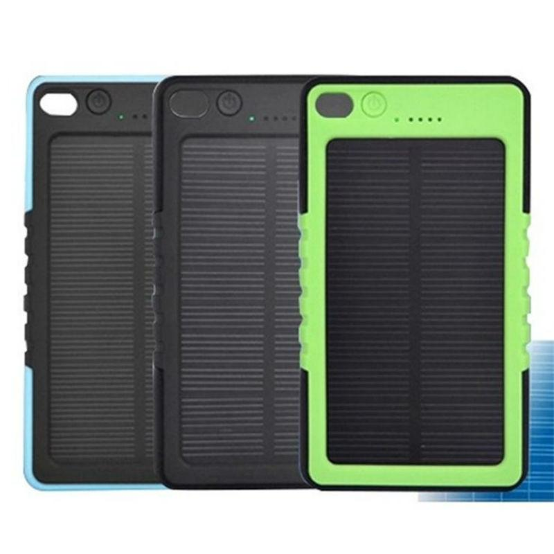 Waterproof Solar Charger 8000mah Solar Power Bank dustproof and shockproof External Battery for smart phones charging