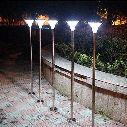 led solar garden lights 150cm 24leds stainless outdoor waterproof power path landscape lamps
