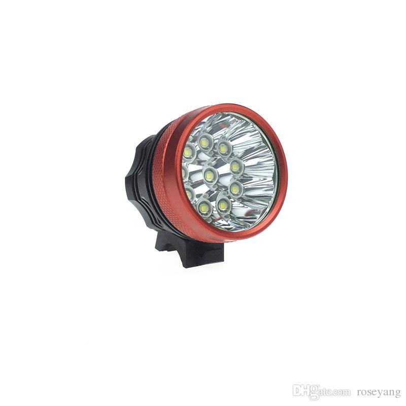 2in 1 Waterproof 20000 Lumen 10T6 Bike Lights 10xXM-L T6 LED Bicycle Lamp Helmet luces led bicicleta+ 8.4V battery