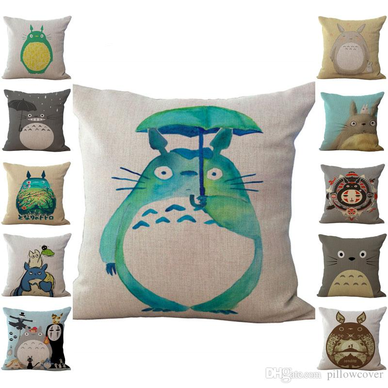 Chinchilla Totoro Pillow Case Cushion cover Linen Cotton Throw Pillowcases sofa Bed Pillow covers Drop shipping PW431