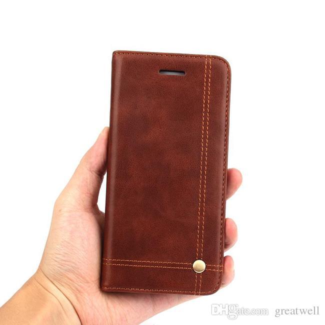 Lüks Vintage Leather Flip Manyetik Telefon Kılıfı Kart Yuvası Cüzdan Kapak Kılıf iphone 11 12mini Pro Max XS XR 8 7 6S Artı için